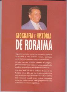 Contracapa do livro Geografia e História de Roraima - Aimberê Freitas